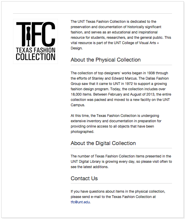 TFC Digital Collection at UNT Libraries